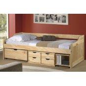 Jugendbett mit Schubladen aus Holz
