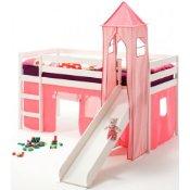 Schloss Abenteuerbett rosa mit Rutsche