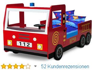 Deuba Feuerwehrbett Jugendbett Autobett