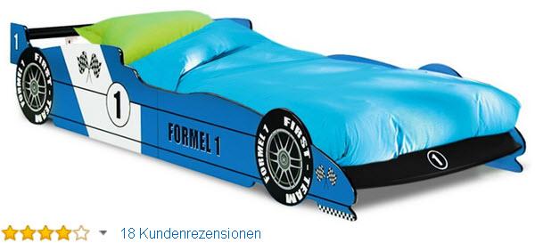 Kinderbett Rennbett ROT - F1 Formel
